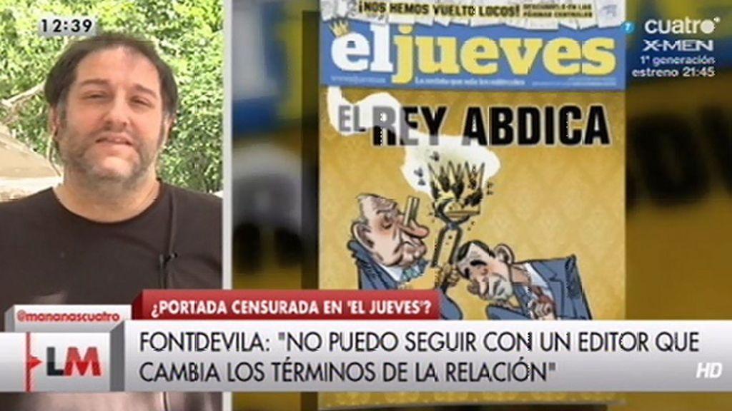 """M. Fontdevila: """"Se me dice que el editor no quiere que se hable del Rey en portada"""""""