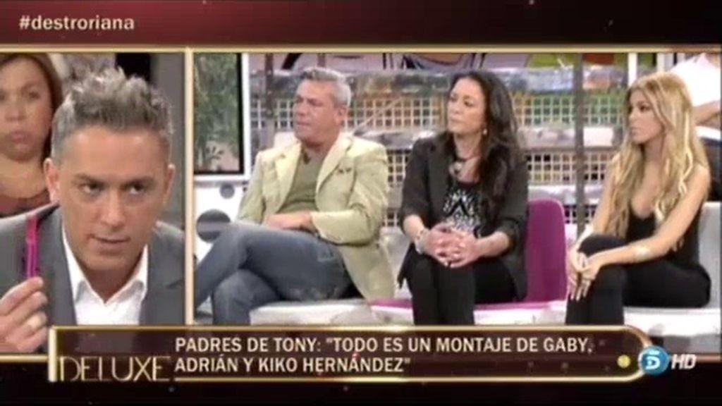 """Los padres de Tony: """"Todo es un montaje de Gaby, Adrián y Kiko Hernández"""""""