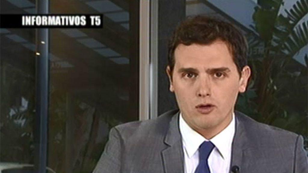 """Albert Rivera: """"Los cordones sanitarios y los bandos me parecen un error"""""""