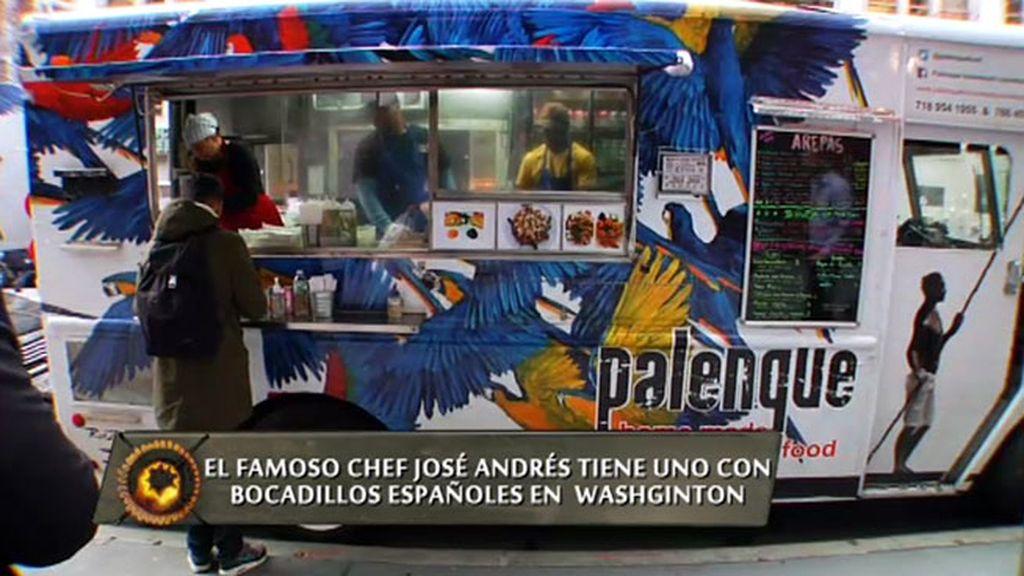 Arepa de maíz y comida colombiana en los camiones callejeros de Nueva York