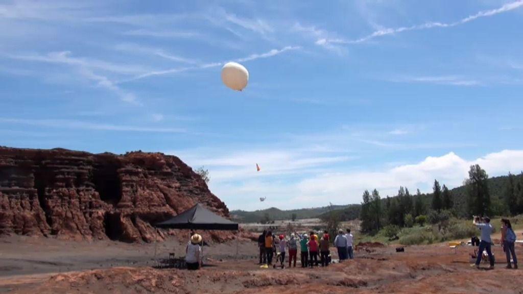 Así ha sido el lanzamiento al espacio de un globo equipado con un localizador GPS