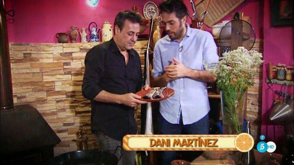 Dani Martínez cocina sopa de trucha con José Ribagorda