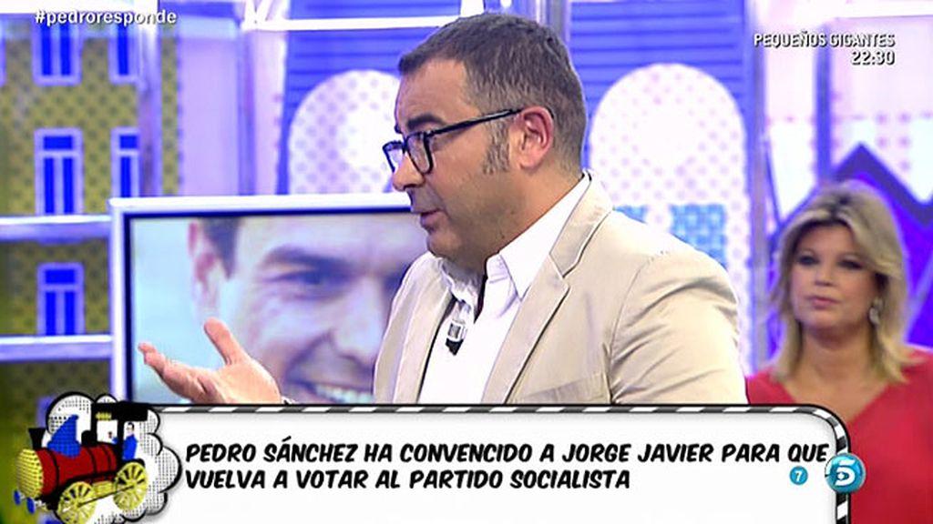 """Jorge Javier: """"El paso de Pedro Sánchez significa respeto a la audiencia"""""""