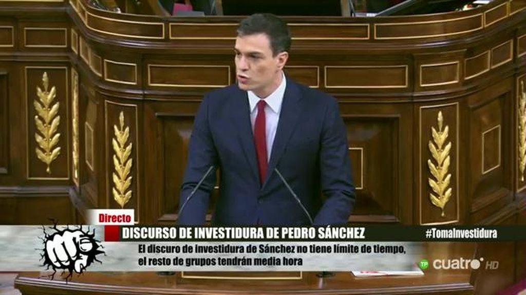 """Pedro Sánchez: """"Nos han encargado formar gobierno, no ir a nuevas elecciones"""""""