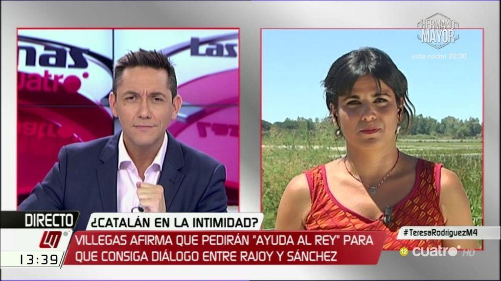 """T. Rodríguez: """"Ciudadanos no quiere pasar la vergüenza de dar el gobierno a Rajoy con apoyo del PNV o Convergencia"""""""