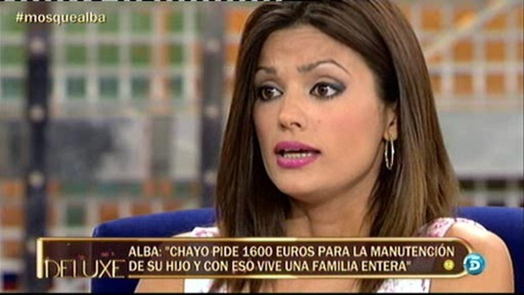 """Alba: """"Nuestra economía no nos permite pasarle a Chayo 1600 euros al mes"""""""