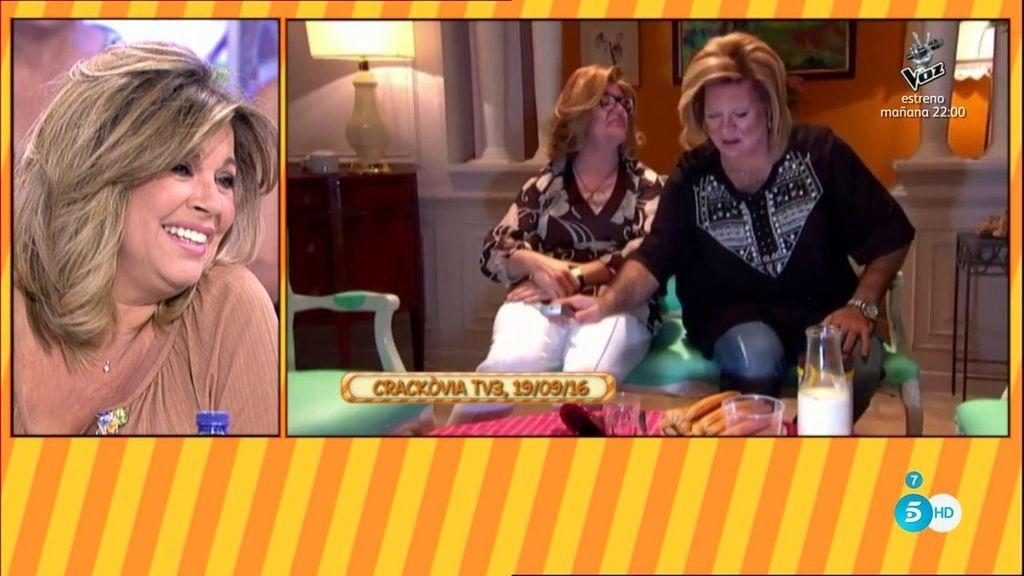 Terelu Campos se parte de risa con la imitación de 'Las Campos'