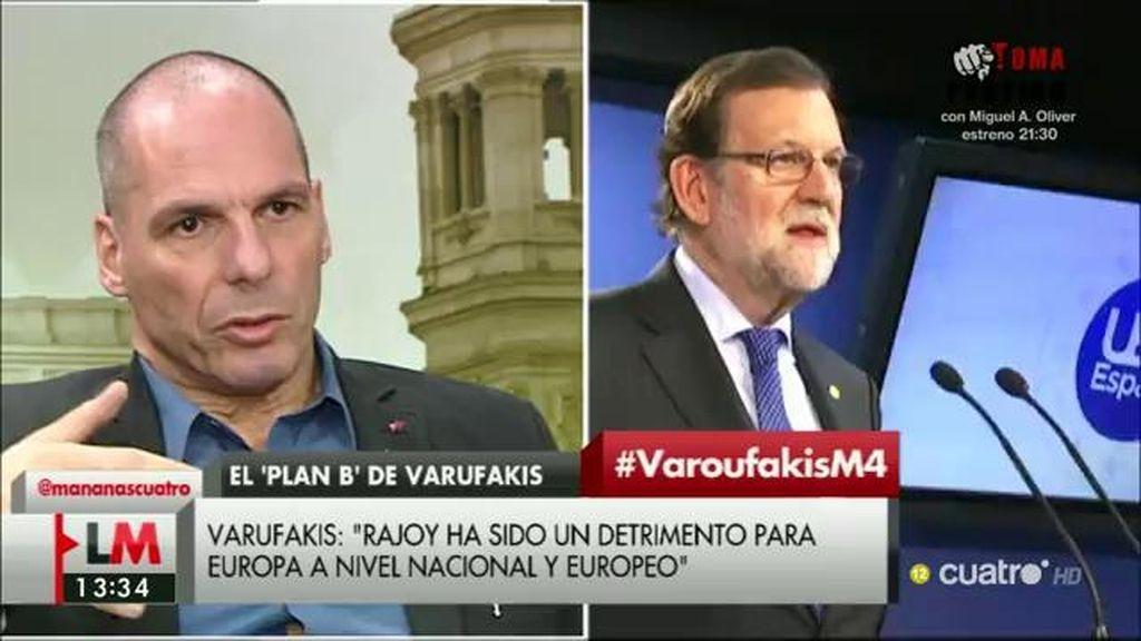 """Varoufakis: """"Rajoy pasará a la historia como parte del problema y no como una solución"""""""