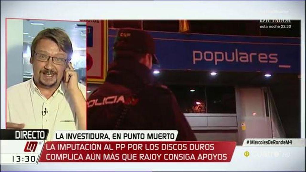 "X. Domènech, de En Comú Podem: ""El PP ha conseguido ser imputado como partido"""
