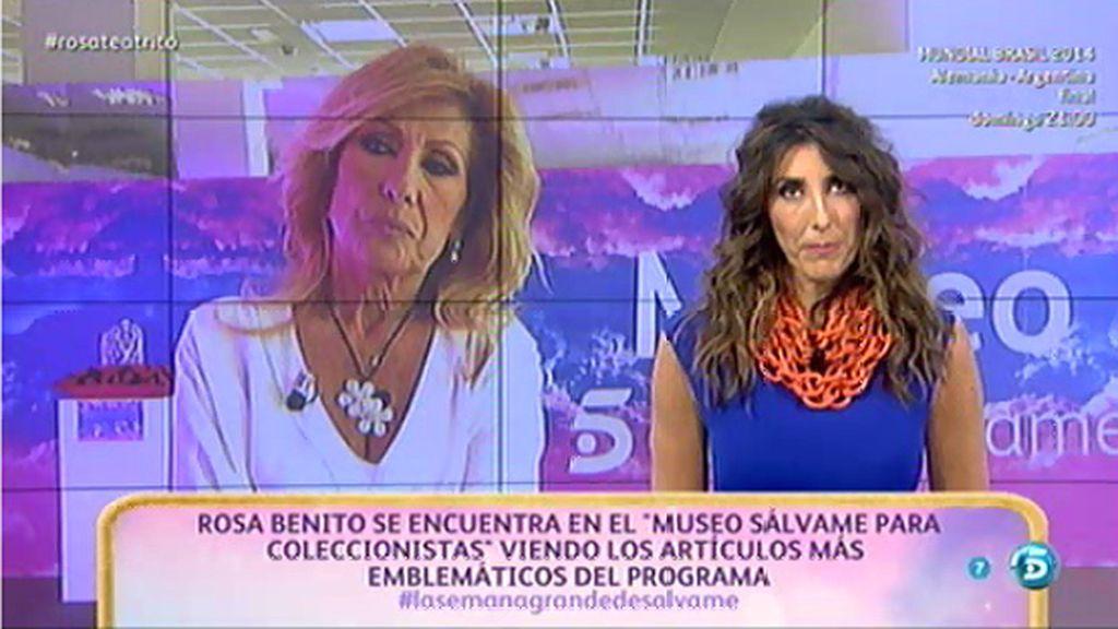 Rosa Benito, decepcionada con su sorpresa
