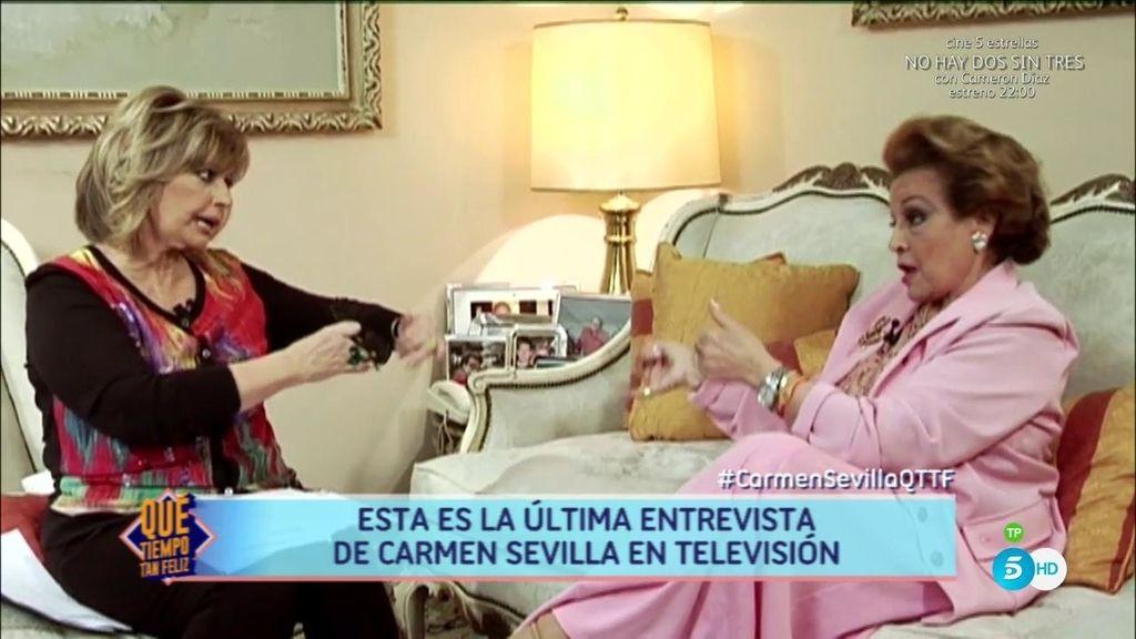 Carmen Sevilla abrió las puertas de su casa a '¡QTTF!' para su última entrevista