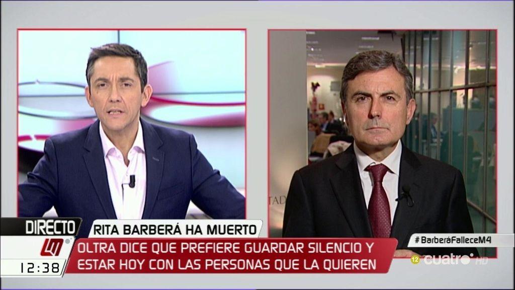 """Pedro Saura: """"Una cosa es la corrupción y otra el respeto en un momento difícil para la familia de Rita Barberá"""""""