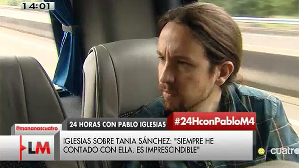 """P. Iglesias: """"Siempre he contado con Tania, sea con carnet o sin carnet de Podemos"""""""