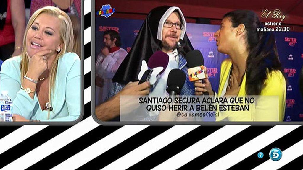 """Santiago Segura: """"No quise herir a Belén Esteban con mi comentario"""""""