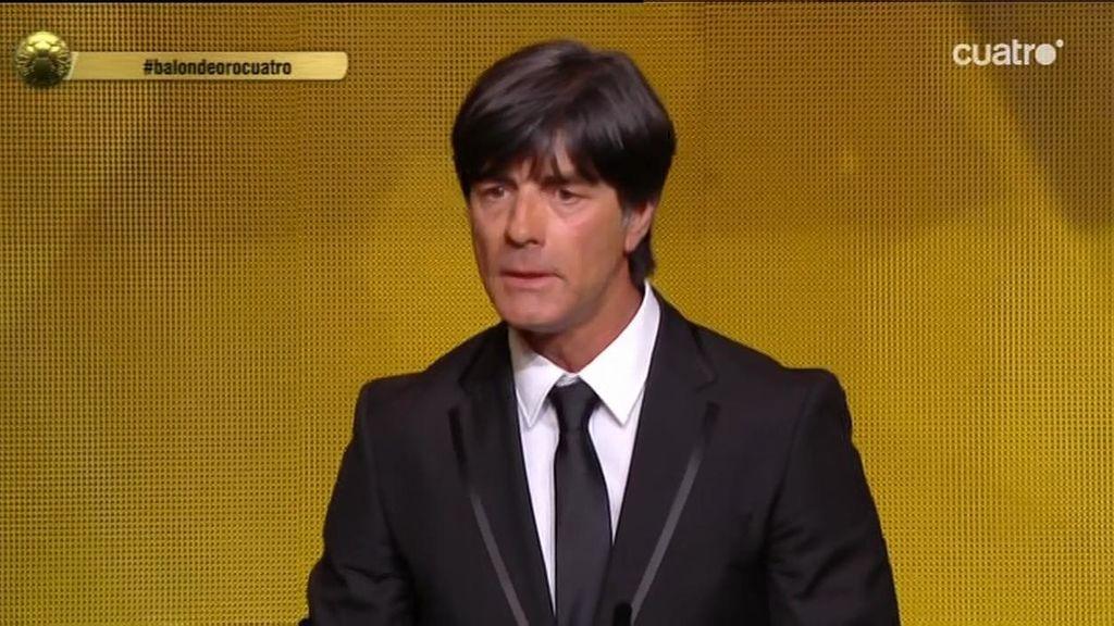 """Löw, mejor entrenador: """"Recibo este premio en representación de muchas personas"""""""