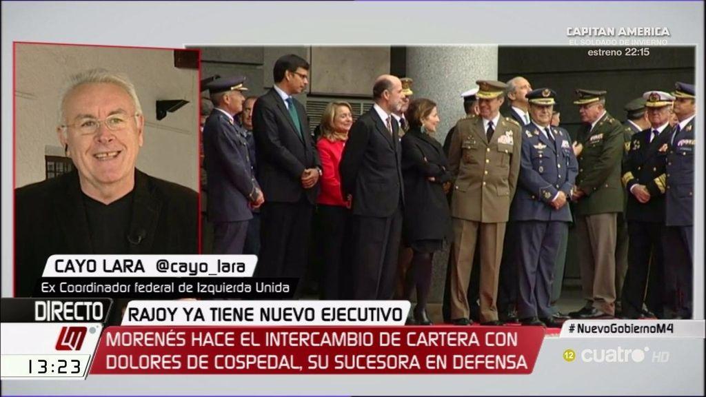 Cayo Lara tampoco apoya el cargo de Cospedal como ministra de Defensa