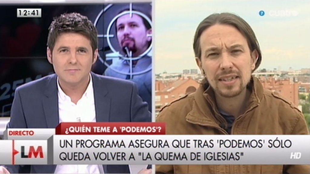 """Pablo Iglesias, de Arriola: """"Es triste que se coloque a la altura del betún con esas declaraciones"""""""