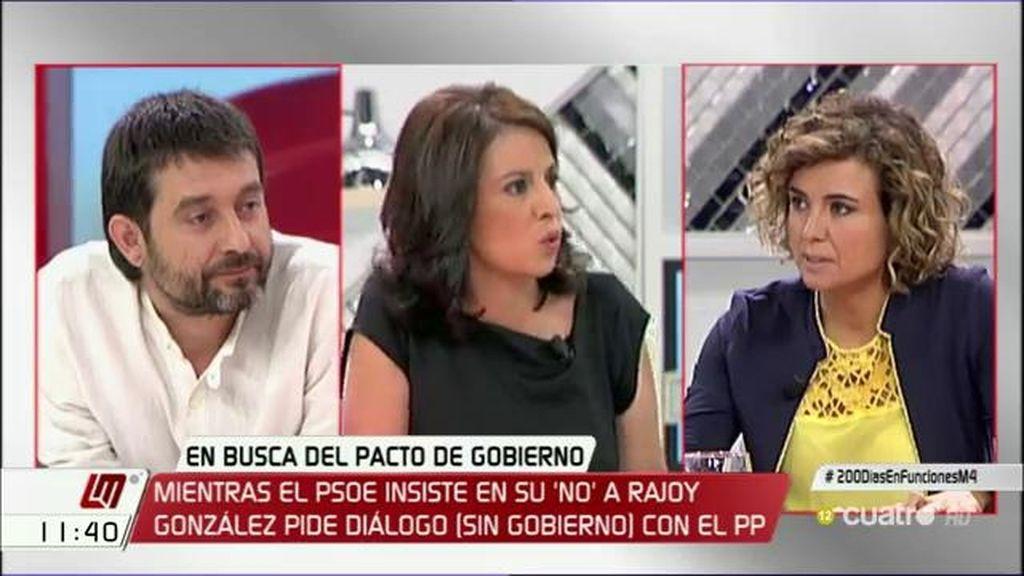 """D. Montserrat, al PSOE: """"Vais a enviar al país a terceras elecciones con este bloqueo"""""""
