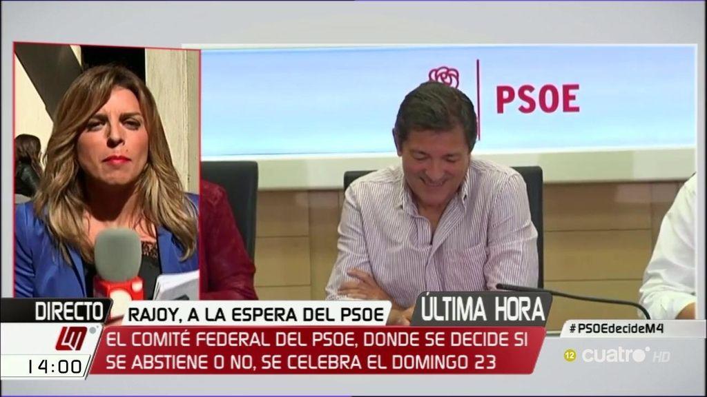 El PSOE decidirá si se abstiene a la investidura de Rajoy el próximo 23 de octubre