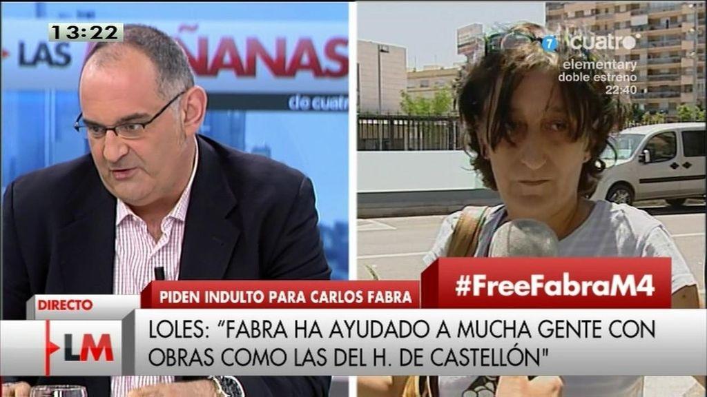 """Loles, a favor del indulto de Fabra: """"Ha hecho mucho por Castellón"""""""