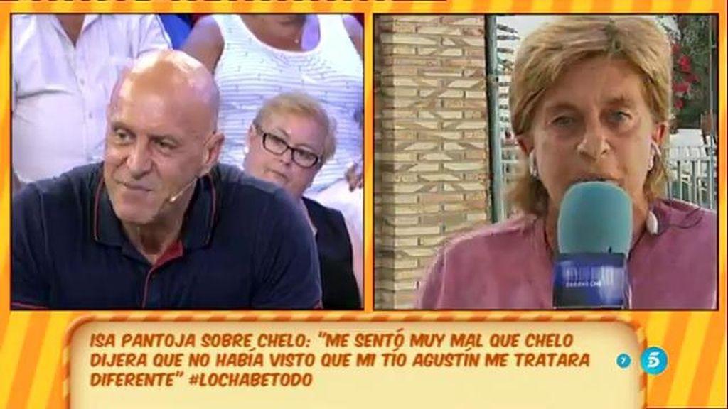 """Chelo, sobre Isa: """"La que tiene que decir que su tío Agustín la trata diferente es ella"""""""