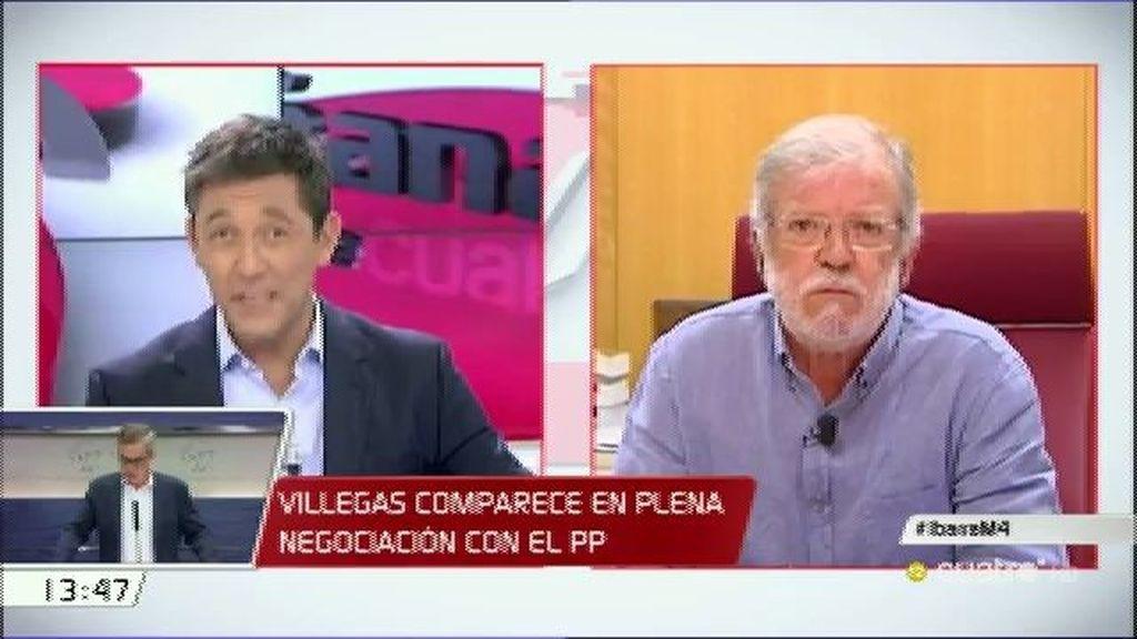 """Rodríguez Ibarra: """"El PSOE debe mantenerse firme en su 'no a Rajoy y a Podemos"""""""