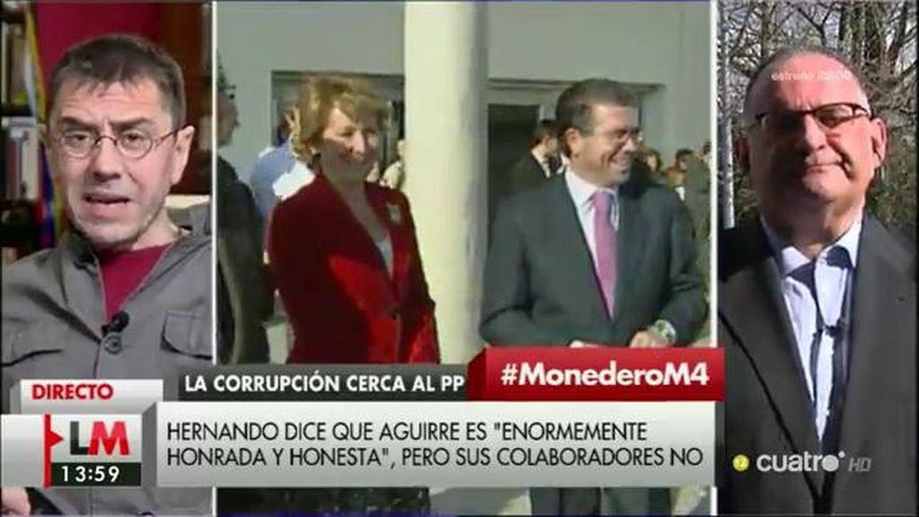 """Juan Carlos Monedero: """"La dirigencia del PP, haciendo o dejando hacer, ha creado una trama corrupta y queda mucho por saber"""""""
