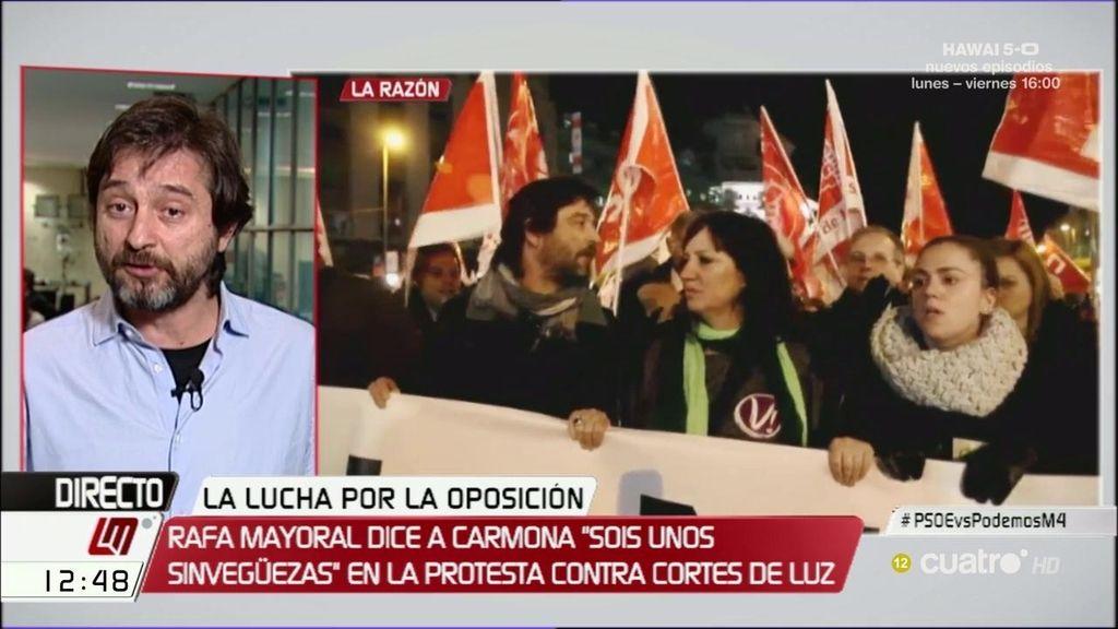 Mayoral opina sobre su rifirrafe con Carmona en la manifestación de la pobreza energética