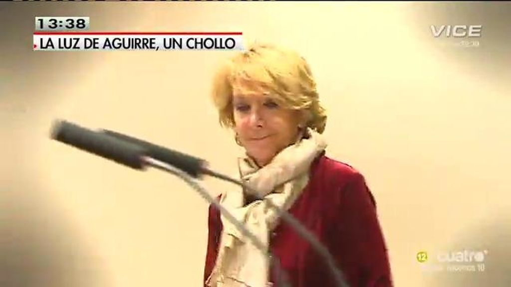 Esperanza Aguirre pasaba el recibo de la luz a los madrileños durante su mandato
