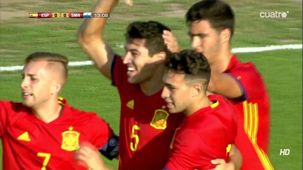 ¡Gol de España! Diego González debuta en la Sub-21 abriendo el marcador (1-0)