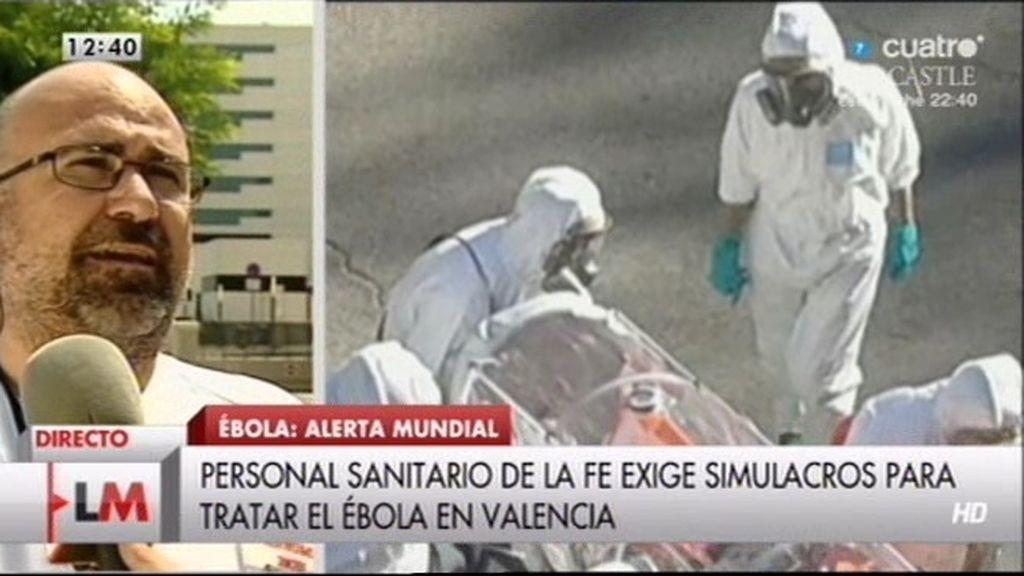 """Manel Canela: """"Todo el personal  no ha recibido el protocolo de evacuación por ébola"""""""
