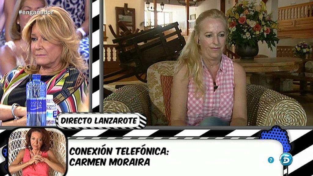 """Carmen Moraira, a Marisa Rejano: """"Te saco de la lista de las del balcón"""""""