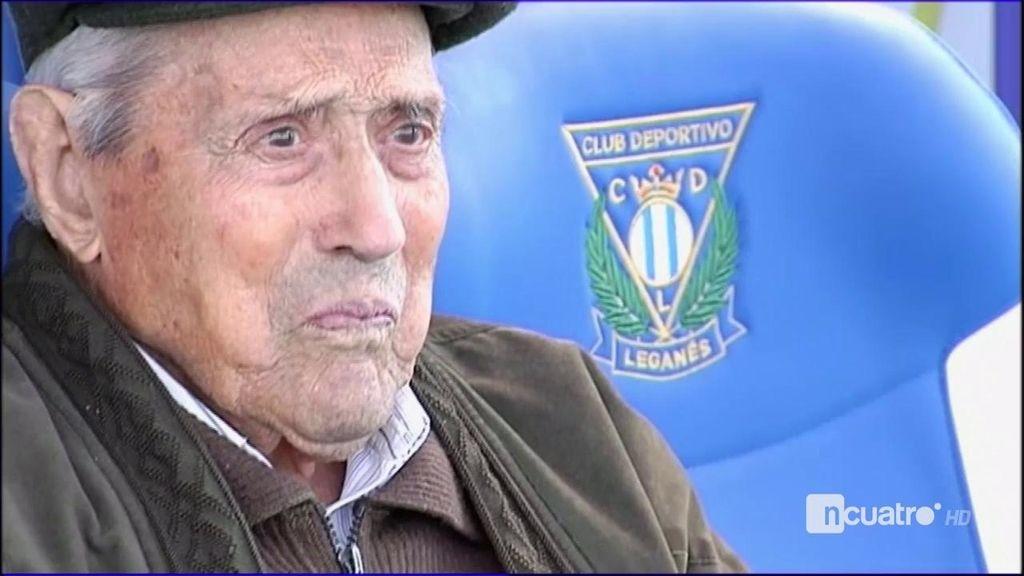 """Salustiano, 102 años, el socio más longevo del Lega: """"A ver si jugamos la Champions"""""""