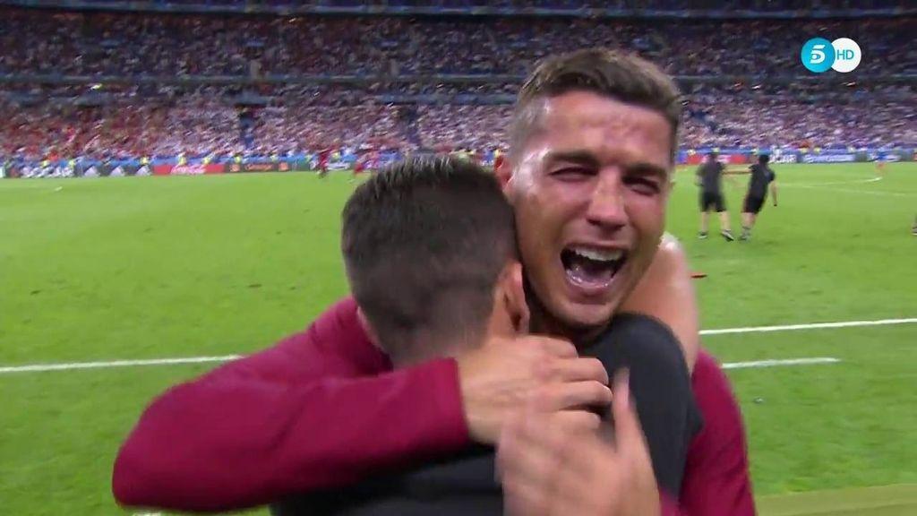 Cristiano se libera tras el pitido final: así fueron sus lágrimas al ser campeón