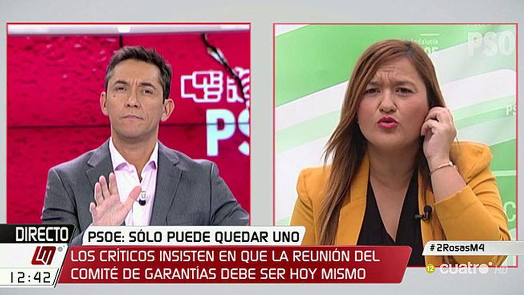 """Verónica Pérez: """"Tenemos un gran problema de legitimidad y credibilidad en el PSOE"""""""