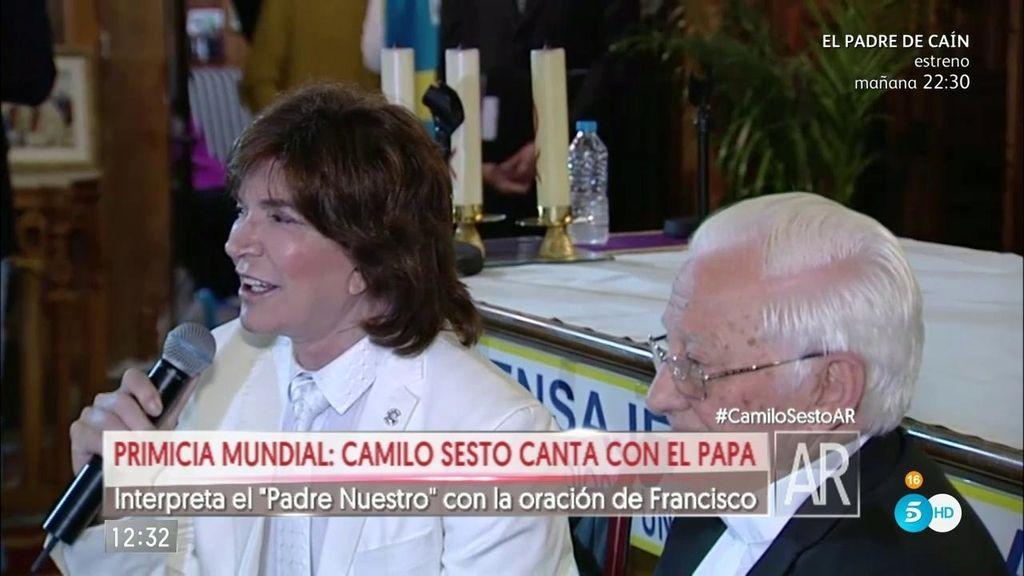 ¡Camilo Sesto canta con el Papa!