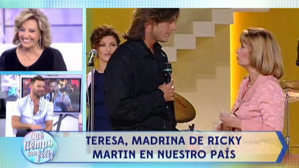 Así fue la primera vez que Ricky Martin visitó un plató de televisión en España