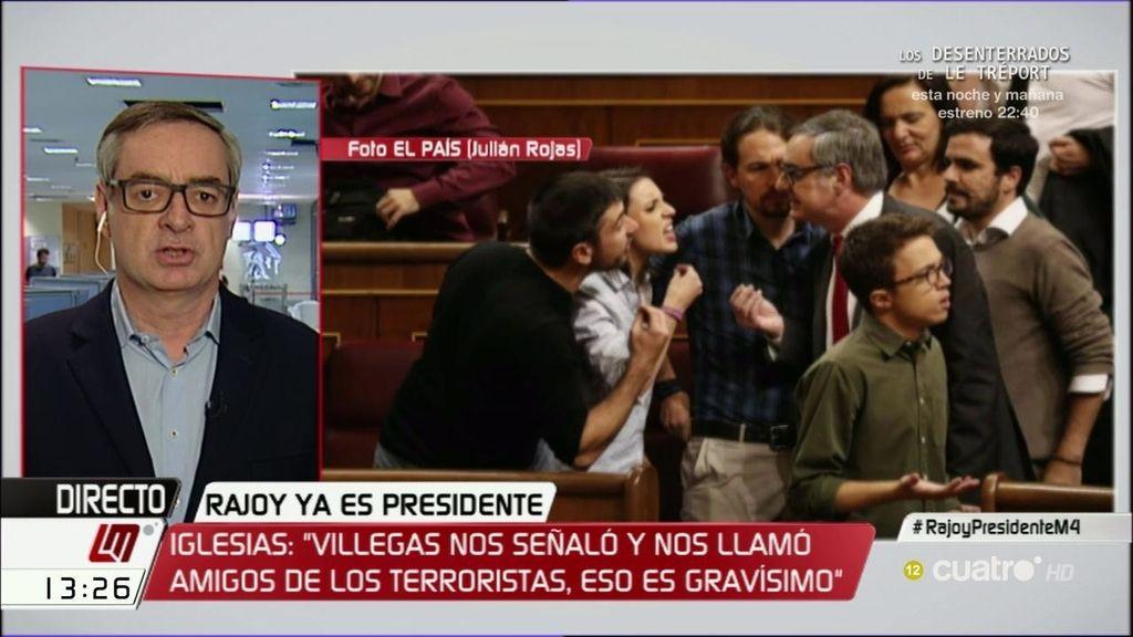 """J.M. Villegas, sobre su encontronazo con Podemos: """"No me retracté, fui a afearles una actitud que creo que es indigna"""""""