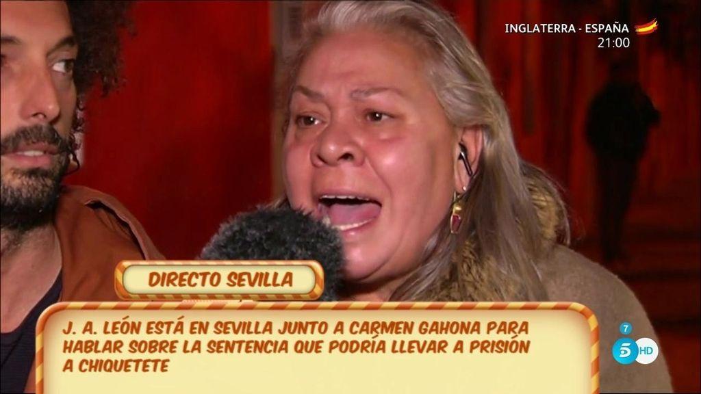 "Carmen Gahona: ""La que se va a ir a la cárcel es la señorita Raquel Bollo"""