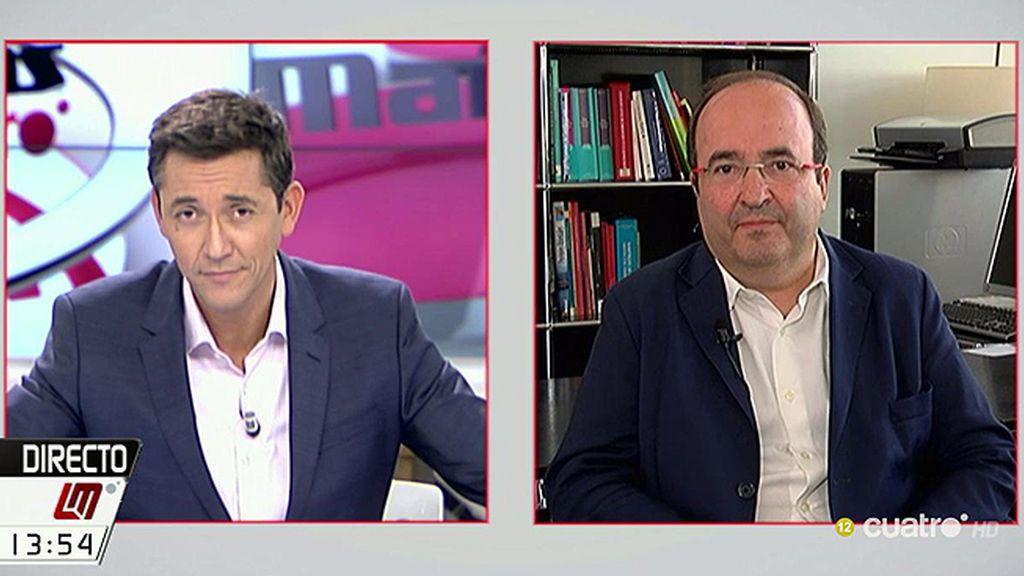 """Miquel Iceta, a Pablo Iglesias: """"Acepta una investidura de Sánchez sin condiciones"""""""