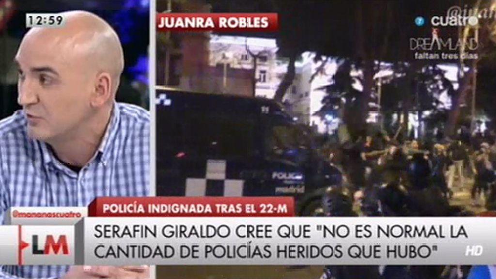 """Serafín Giraldo: """"Hay policías que temieron por su vida"""""""