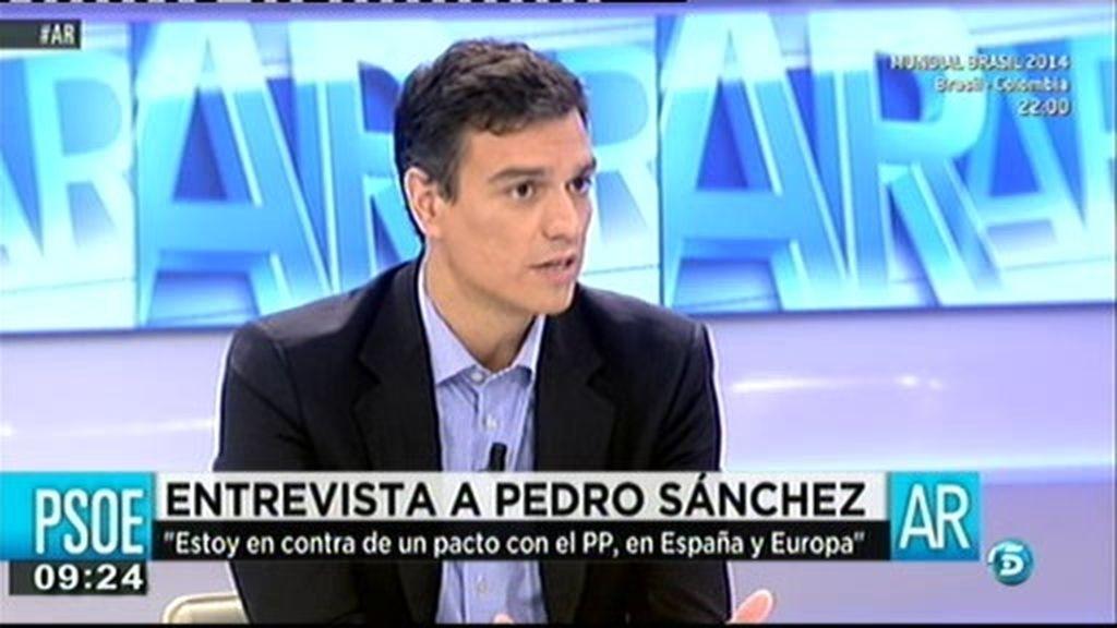 """Pedro Sánchez: """"Reivindico la centralidad en la izquierda"""""""