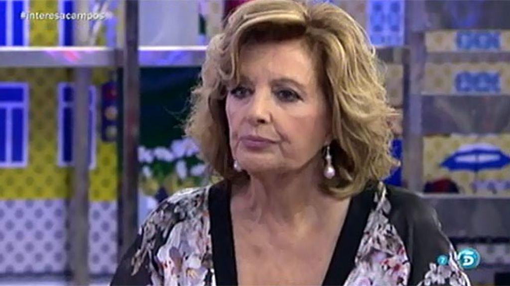 "Teresa Campos, sobre la deuda de Raquel a Belén: ""Me parece un tema lamentable"""