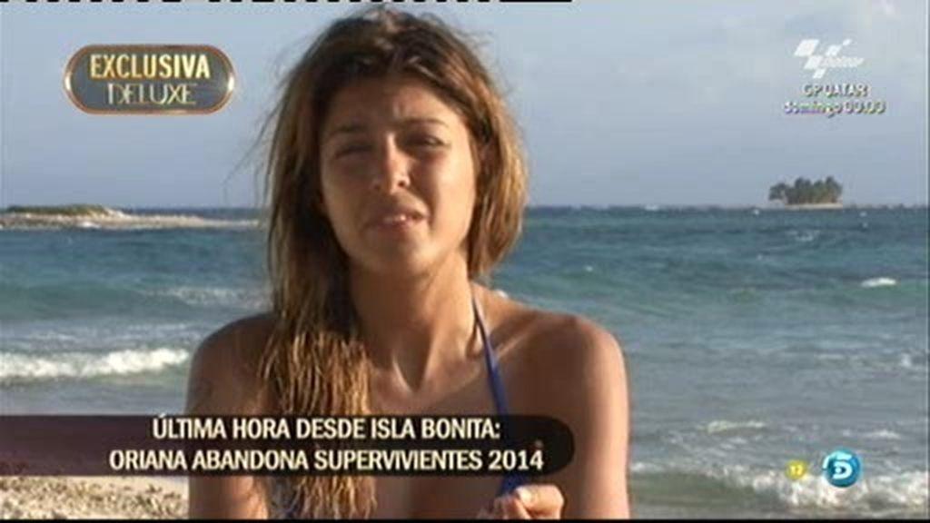 Oriana pierde los nervios y abandona tras cinco días en 'Supervivientes'