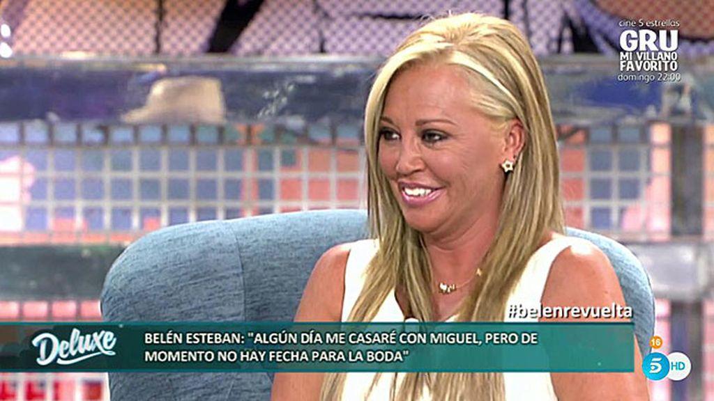 """Belén Esteban: """"Quiero tener un bebé, pero creo que antes va a llegar la boda"""""""