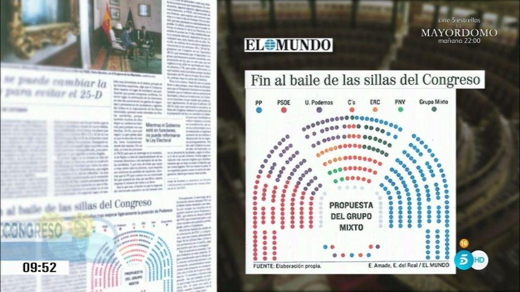 El reparto de escaños del Congreso de los diputados no satisface a Podemos