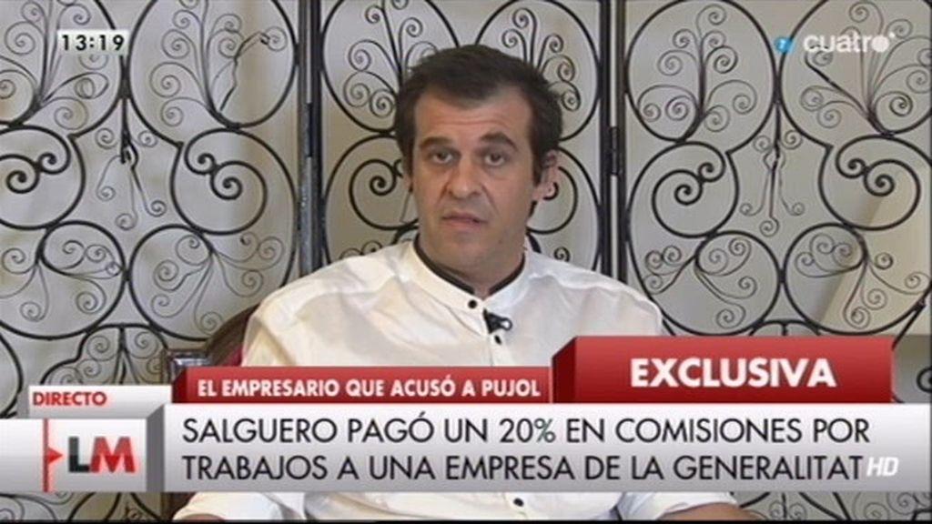 """Salguero: """"Acepté el chantaje del clan Pujol para pagar a otros trabajadores"""""""