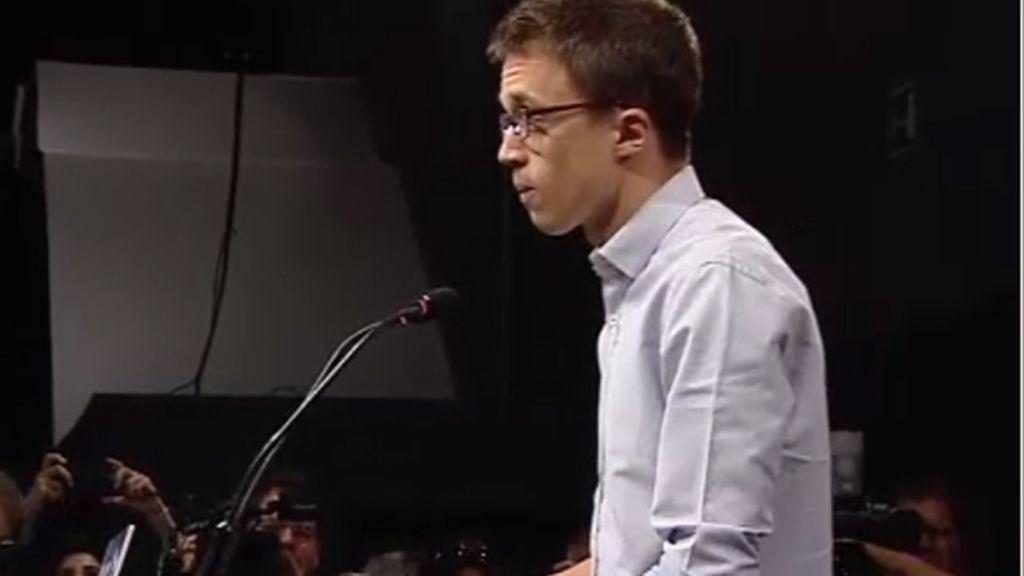 Errejón reconoce que la unión con IU restó en las urnas