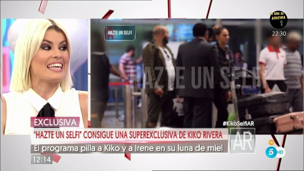 'Hazte un selfi' pilla a Kiko Rivera e Irene Rosales en su luna de miel