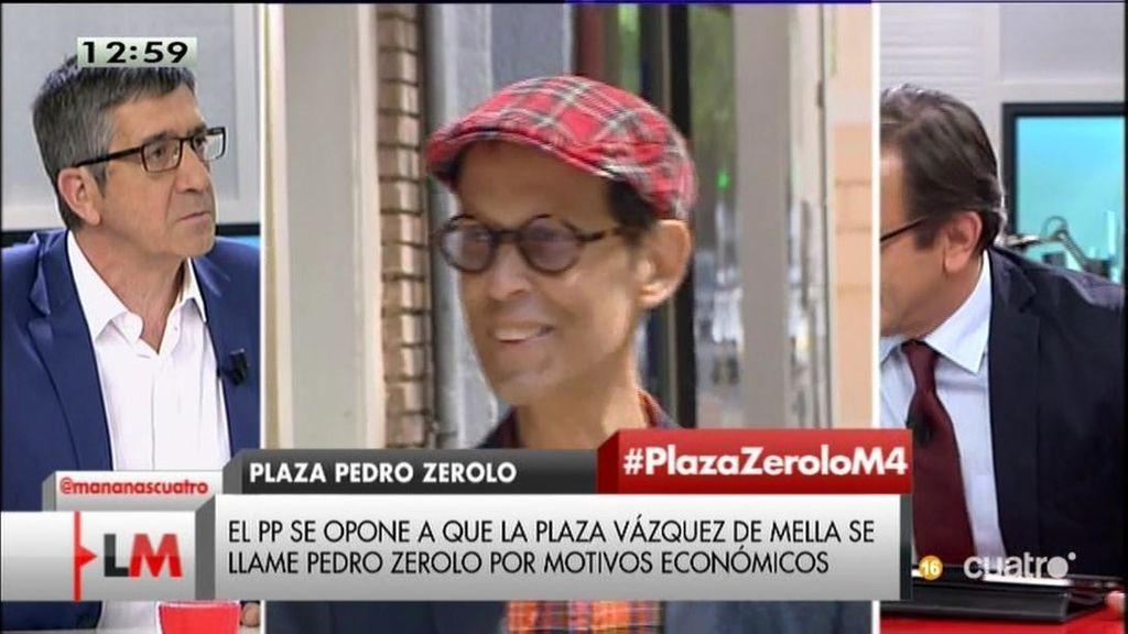 """Patxi López, sobre la negativa del PP a la Plaza Pedro Zerolo: """"Es una mezquindad"""""""